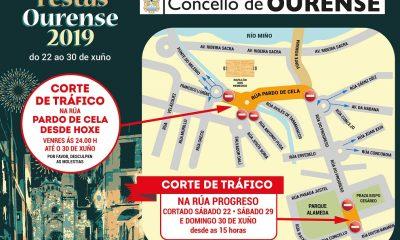 Corte de calles durante las fiestas de Ourense