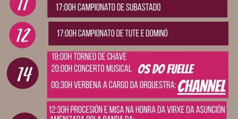 Cartel de las Festas de Montederramo