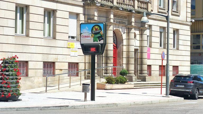 Altas temperaturas en Ourense termómetro
