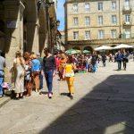 Mercadillo de Antiguedades en la Plaza Mayor de Ourense