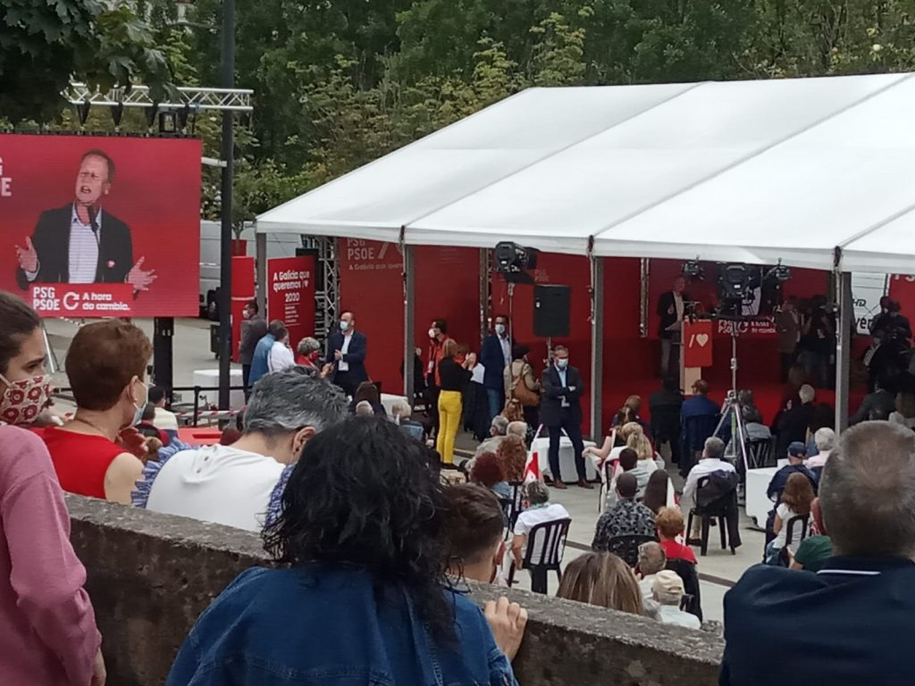 Mitin PSOE Ourense 2020