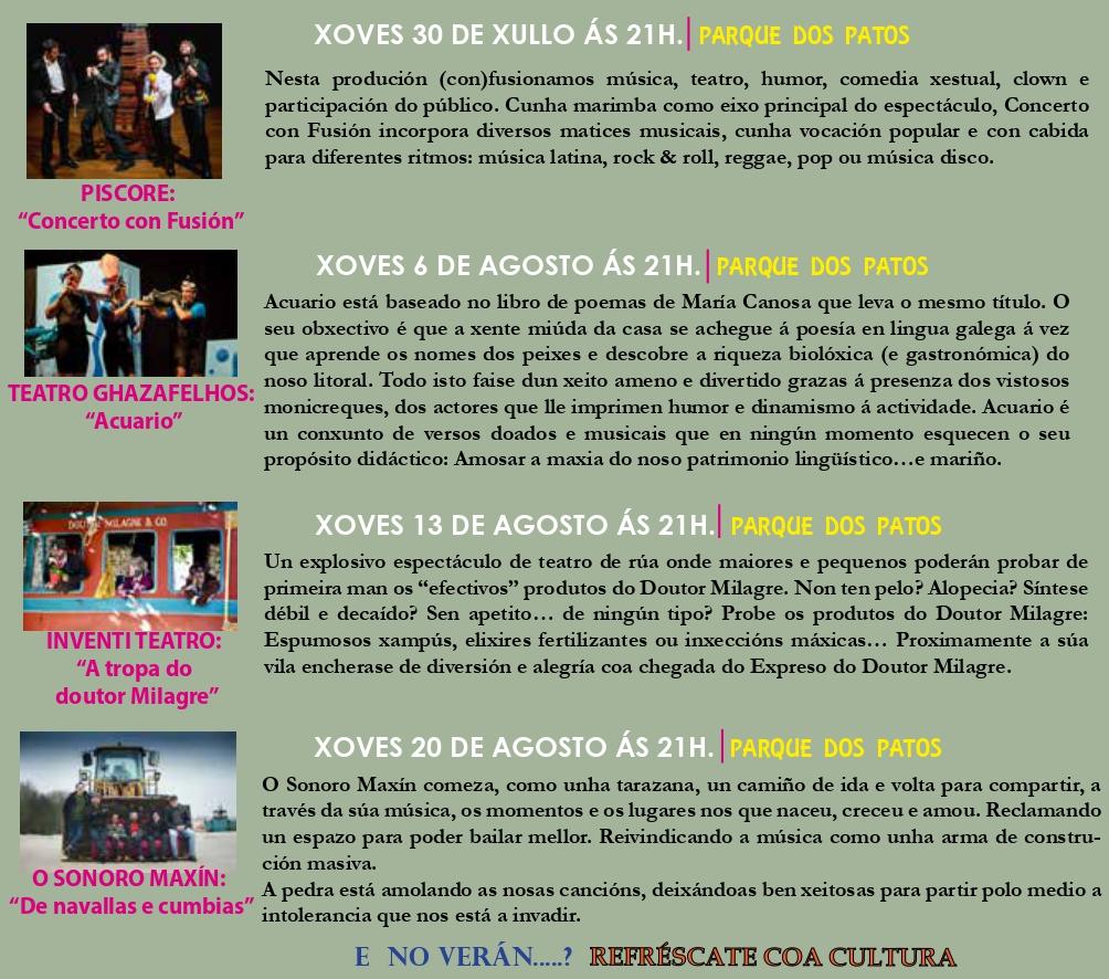 Programa verano cultural en A Valenzá