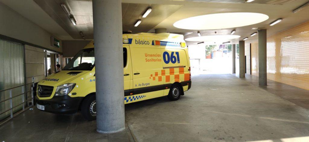 Ambulancia en el CHUO