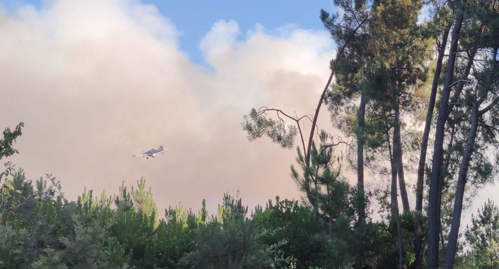 Avioneta en el incendio de Toén