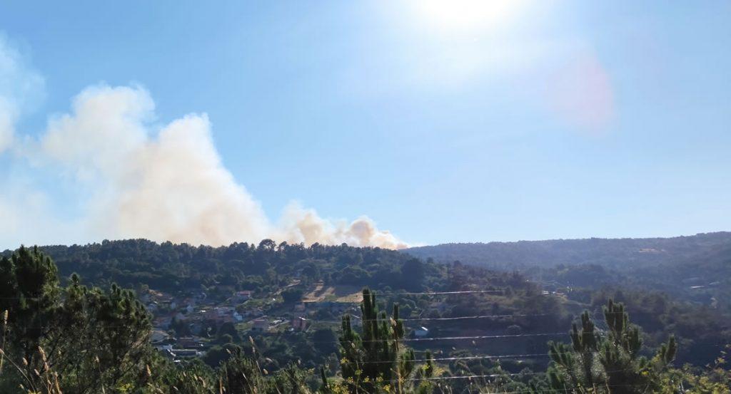 Incendio Moreiras desde Ourense
