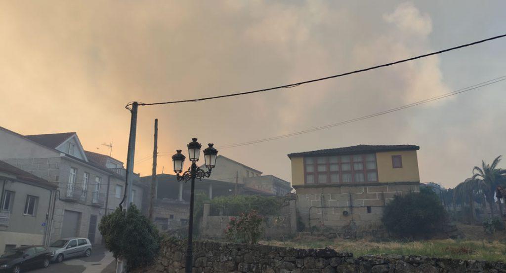 Moreiras bajo el humo