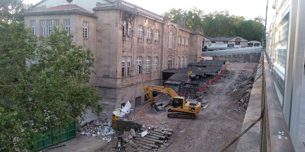 Obras en la Plaza de Abastos