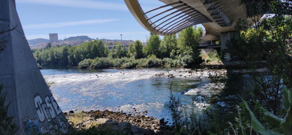 Río Miño pasando por el Puente del Milenio