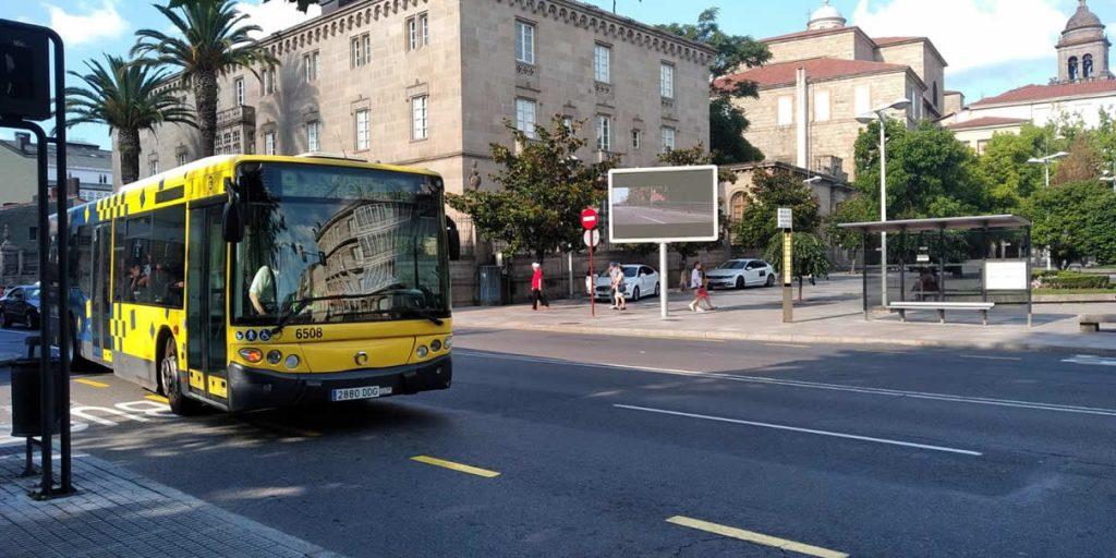 Autobús de Ourense en la Alameda