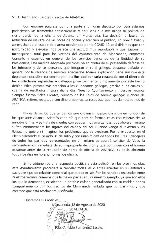 Carta al Director de Abanca
