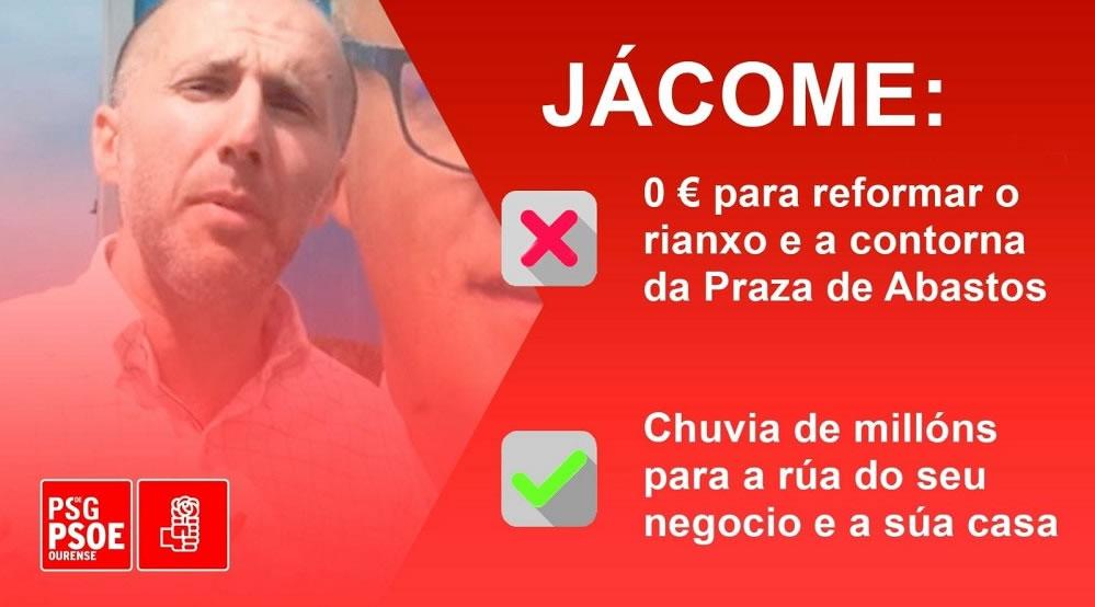 Cartel PSOE contra Jácome