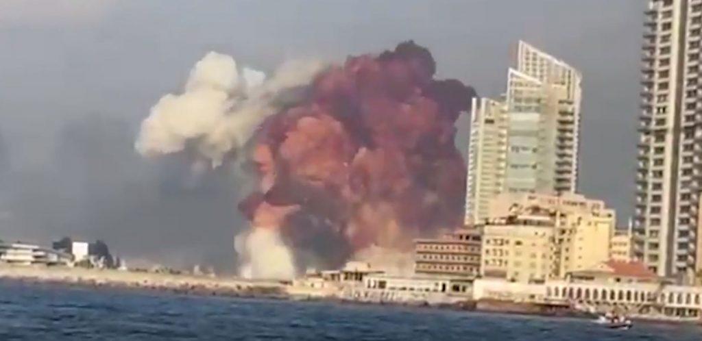 Explosión en el puerto de Beirut