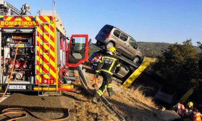 Accidente Xinzo entre dos camiones