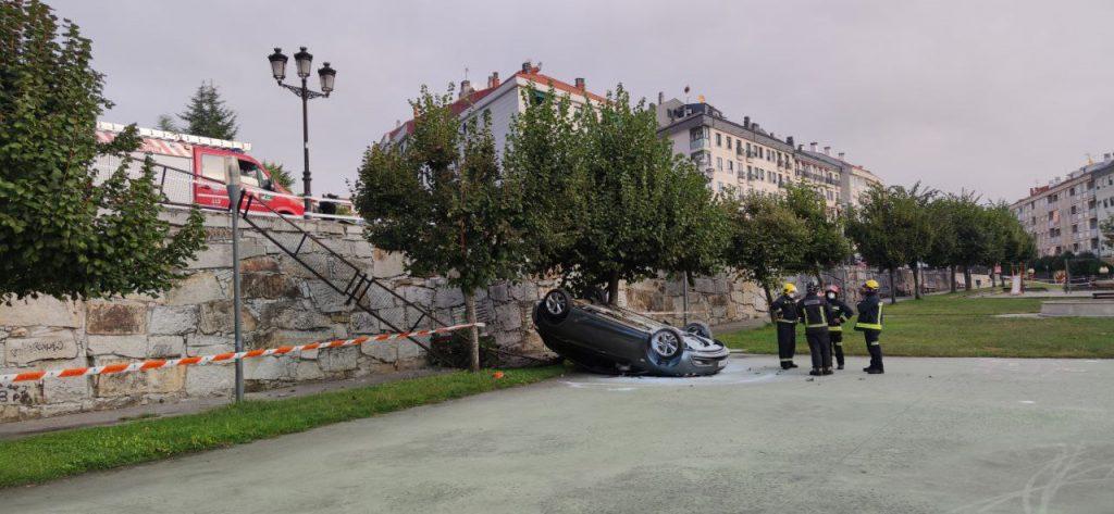 Accidente parque de A Liberdade en A Valenzá