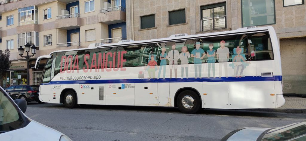 Autobús donar sangre