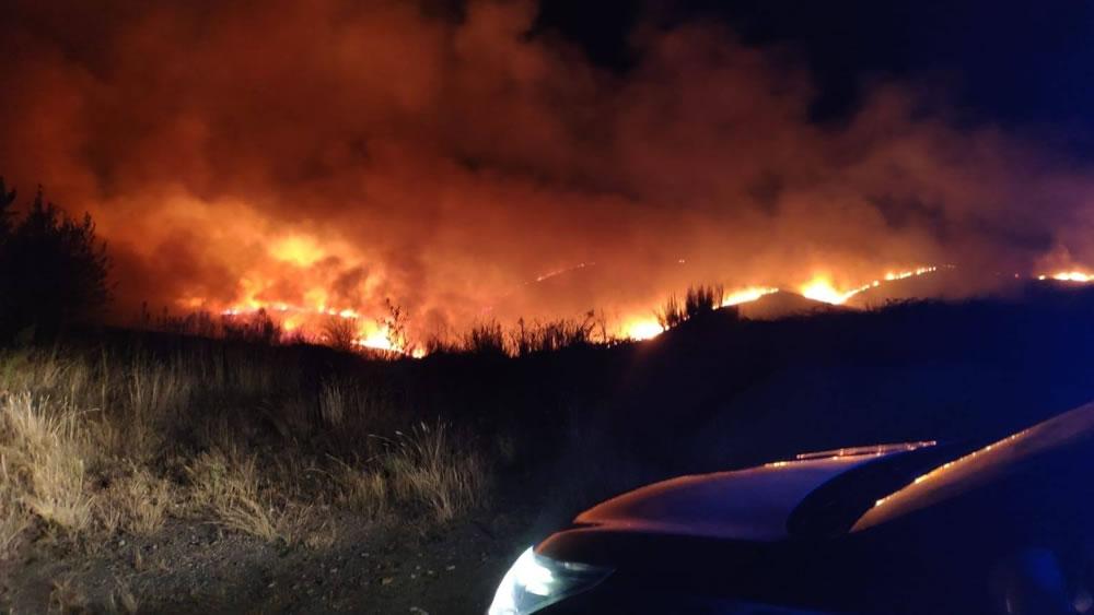 Incendio en Pentes