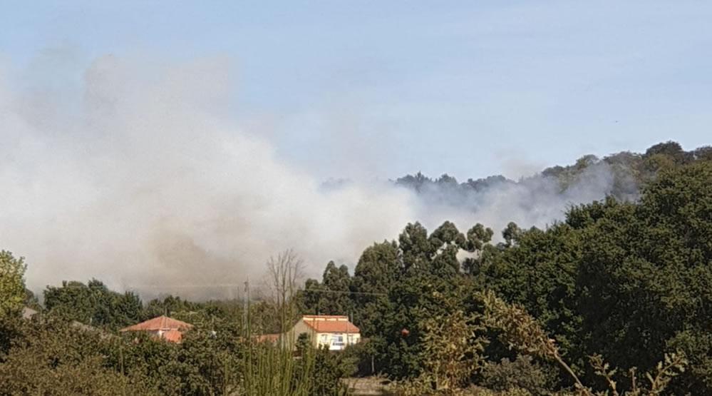 Incendio en Vilar de Santos