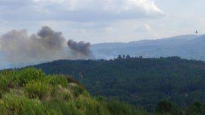 Incendio forestal en Cachamuiña