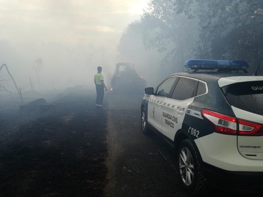 Incendio y Guardia Civil