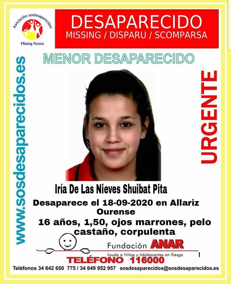 Menor desaparecida en Allariz