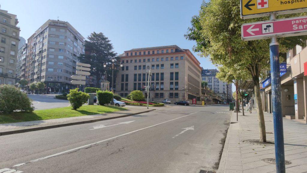 Palacio de justicia y calle Progreso
