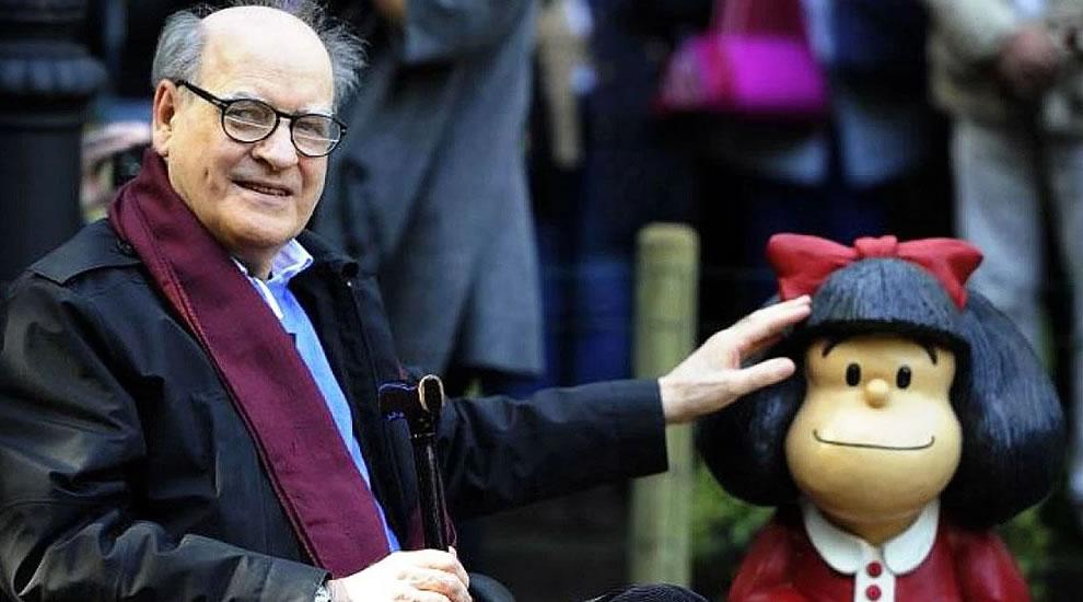 Quino con Mafalda