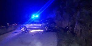 Accidente en Rubiás dos Mixtos con coche destrozado