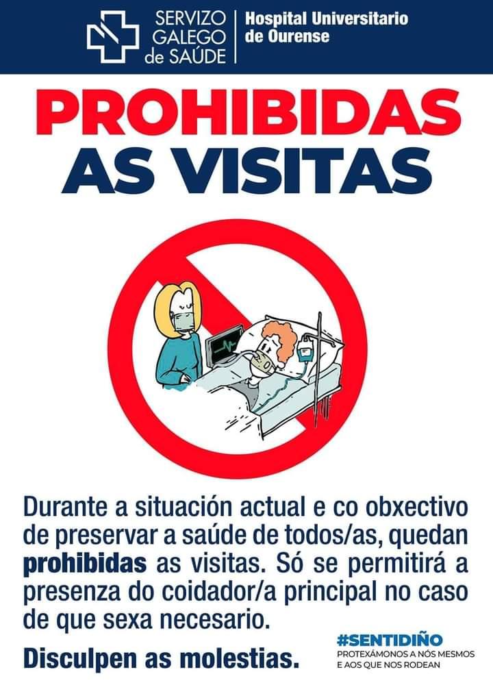 Prohibidas las visitas a enfermos del CHUO
