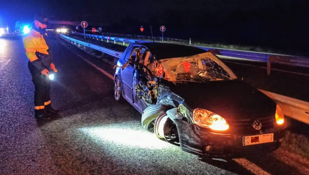 Accidente coche con tráiler