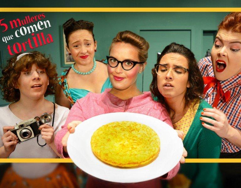 Cinco mulleres que comen tortilla