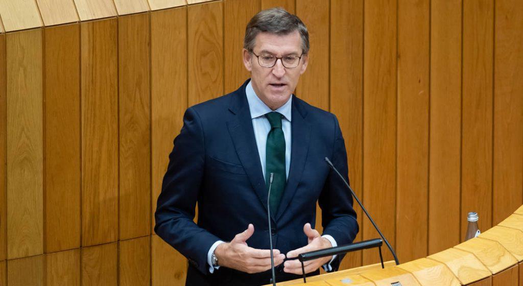 Feijóo en parlamento de la Xunta de Galicia