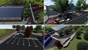 Obras en el aparcamiento de Oira