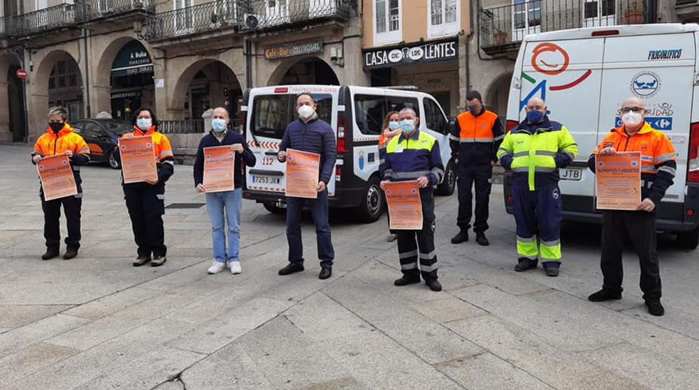 Recogida de alimentos de Protección Civil de Ourense