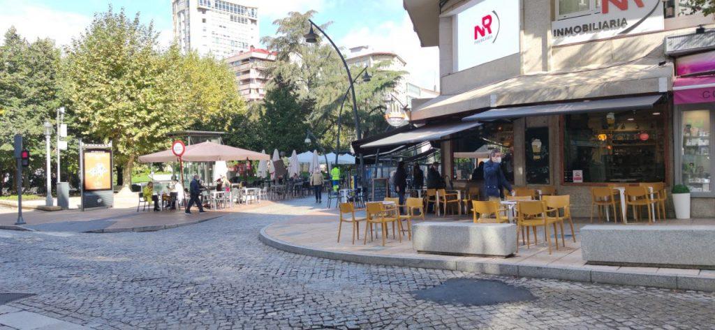 Terrazas en el Parque de San Lázaro desde Bedoya