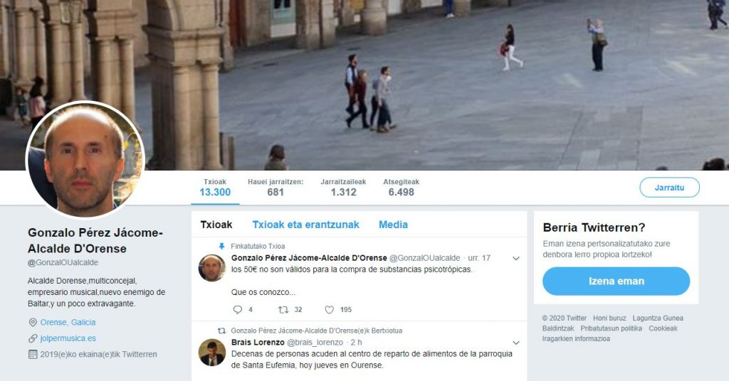 Twitter fake del alcalde de Ourense