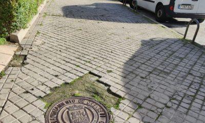 Aceras de Portocarreiro en mal estado
