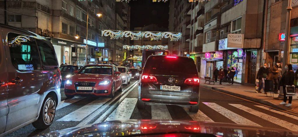 Atascos en Ourense por Navidad