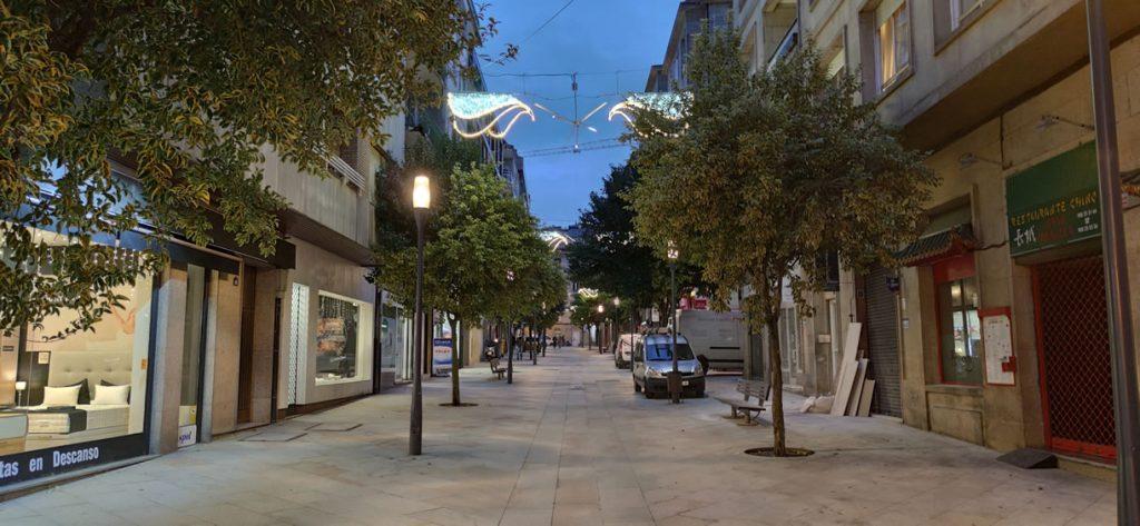 Calle Doctor Marañón iluminada
