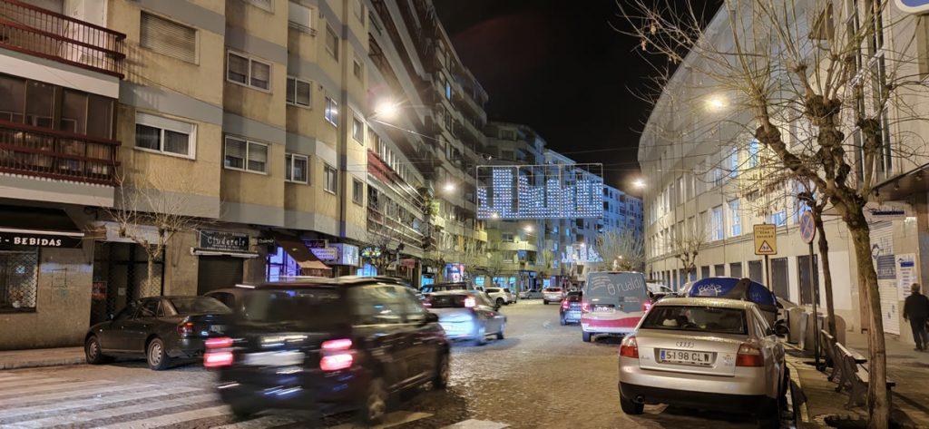 Calle Vila Real iluminada por Navidad