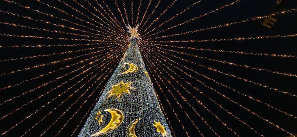 Foto del árbol de Navidad de Ourense
