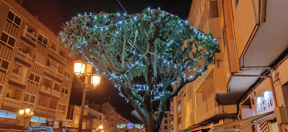 Luces de navidad en A Valenzá