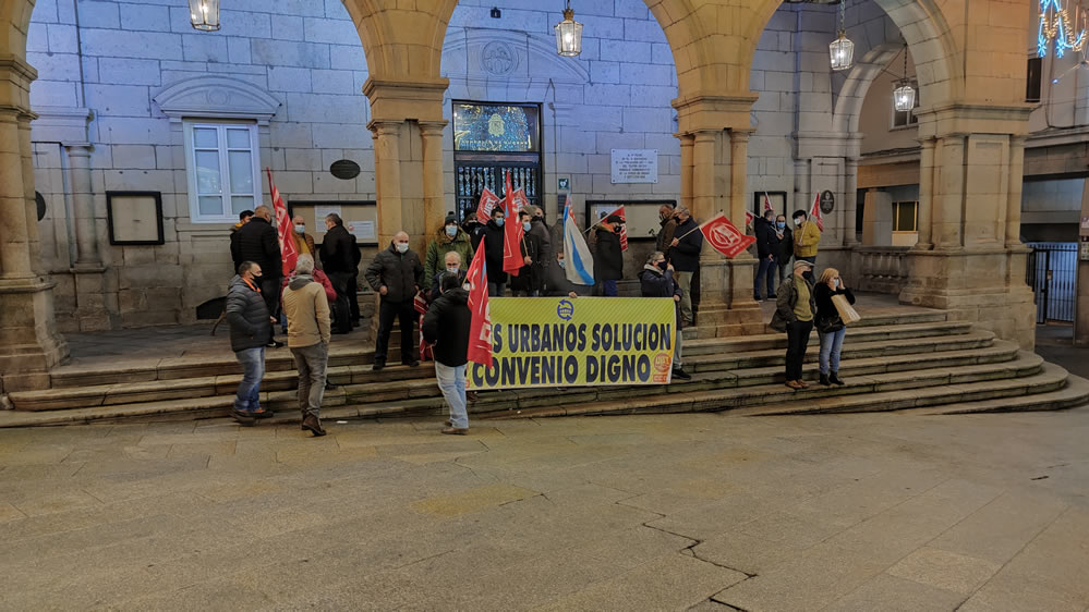 Protestas en la Plaza Mayor por Autobuses