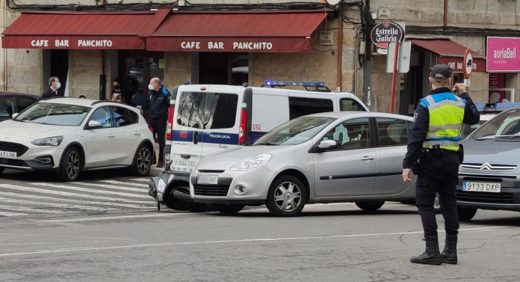 Accidente de moto en Ervedelo