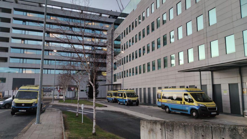 Ambulancias en el Chuo de Ourense