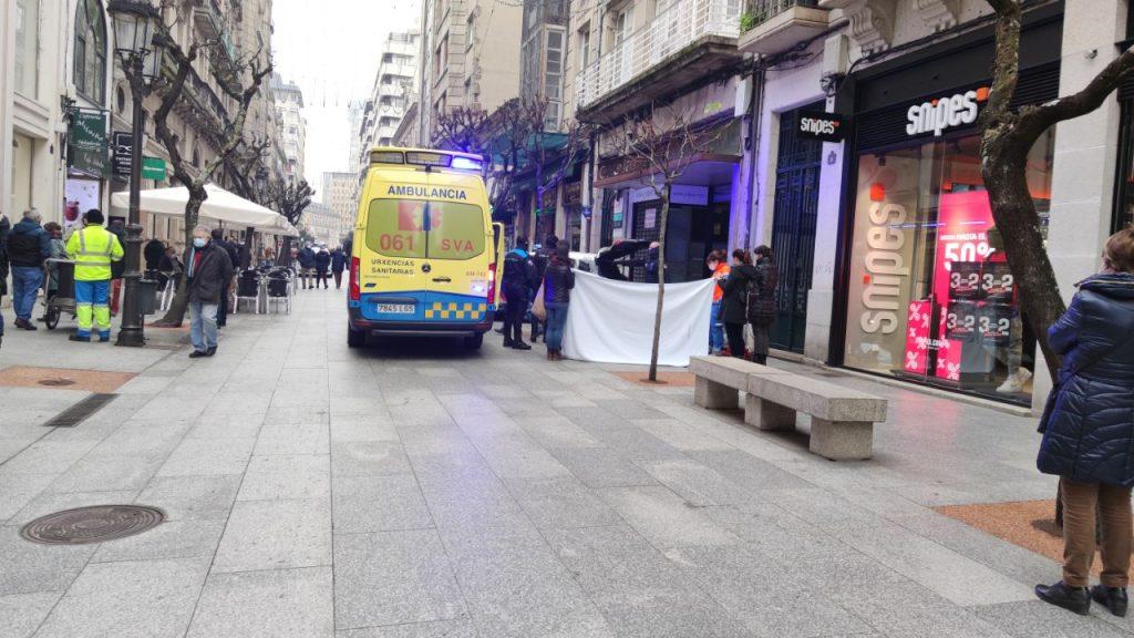 Emergencia en la calle del Paseo