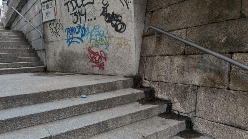 Escaleras de As Burgas en Progreso