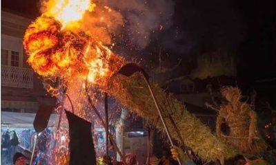 Festa dos Fachos en Castro Caldelas