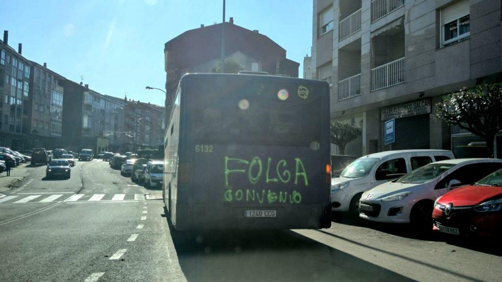 Folga de autobuses de Ourense