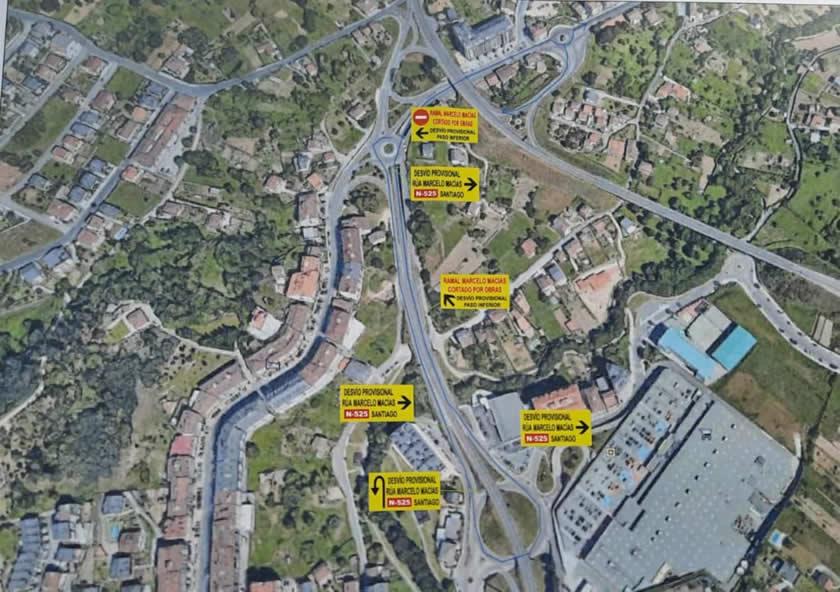 Cambio tráfico en A Valenzá