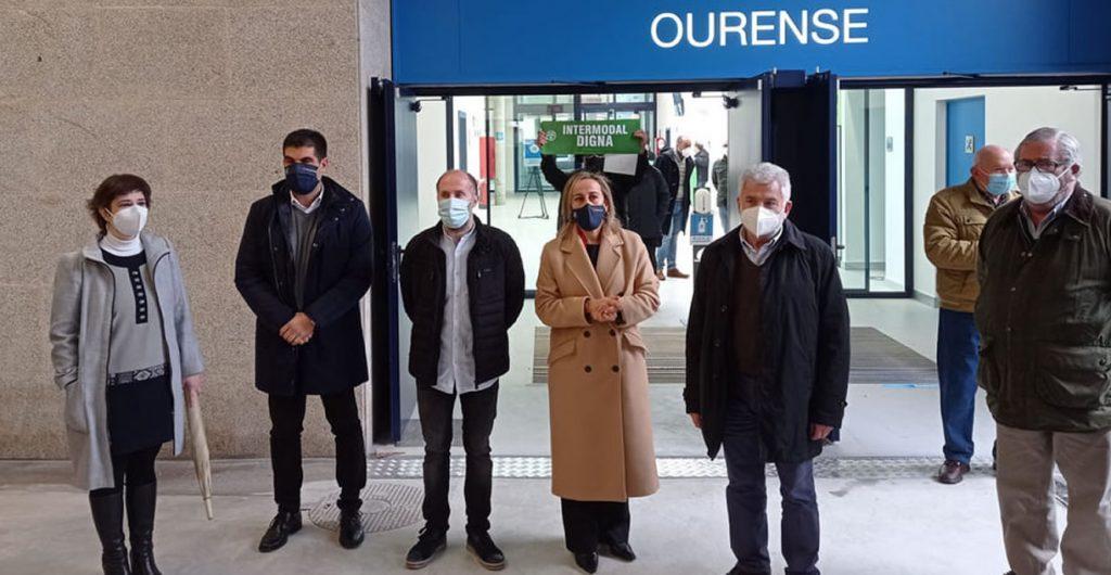 Jácome en la inauguración de la nueva Estación de Autobuses de Ourense